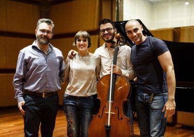 Hemisphaeria Trio - Recording session, November 2018