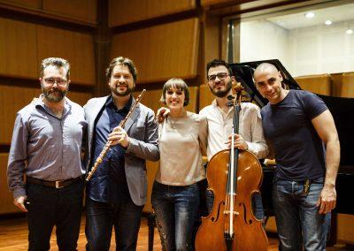 Hemisphaeria Trio & Andrea Oliva - Recording session, November 2018-min