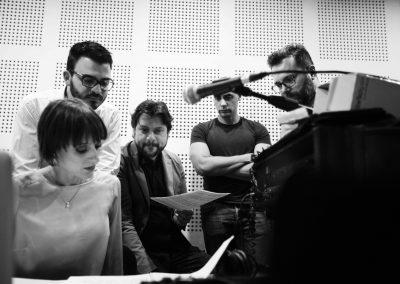 Hemisphaeria Trio & Andrea Oliva - Recording session, November 2018